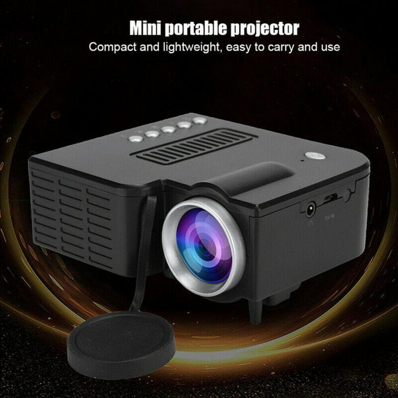 UC28C 320x180 Home Theater Micro Mobile Phone Mini Portable USB Port Led Bedroom Family Video Projector Entertainment Sharing