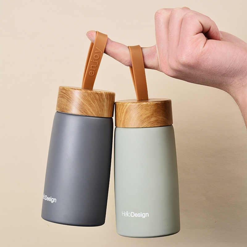 كوب قهوة عازل للحرارة 304 حافظات فولاذية للماء ترمس الماء ترموس تفريغ البسيطة زجاجة المياه المحمولة السفر القدح كوب حراري