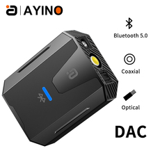 Audio-Converter Coaxial-Toslink Digital Bluetooth Stereo Analog 192khz AYINO RCA