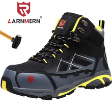LARNMERN Mens 강철 발가락 안전 신발 경량 통기성 Anti smashing Anti puncture 정전기 방지 보호 작업 부츠