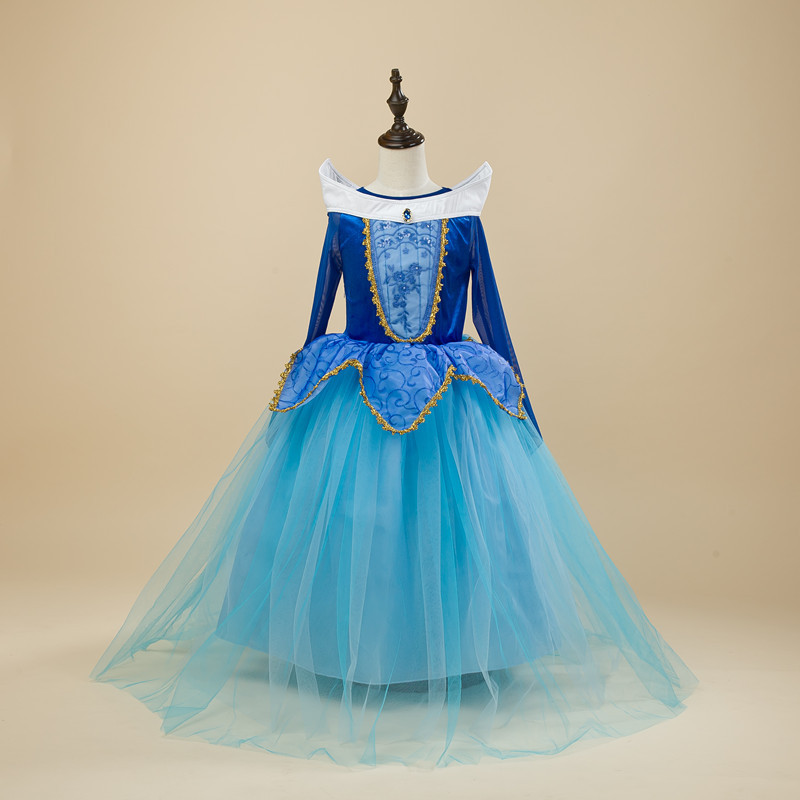 Fancy Princess Dress For Girls Halloween Cosplay Dresses Dress Up Costume Children Party Clothes 3