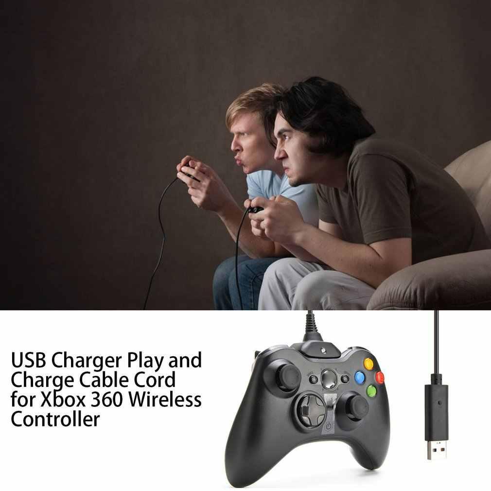1.5m kabel do ładowania usb do konsoli Xbox 360 bezprzewodowy kontroler do gier Play kabel do ładowarki do ładowania przewód wysokiej jakości akcesoria do gier nowość
