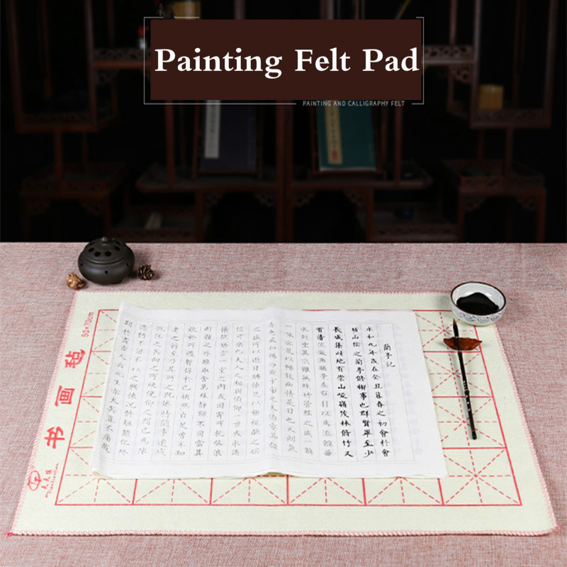 Painting Felt Pads Woolen Peinture Feutre Chinese Brush Painting Calligraphy Pad Thicken Soft Wool Table Mat Feutre Peinture