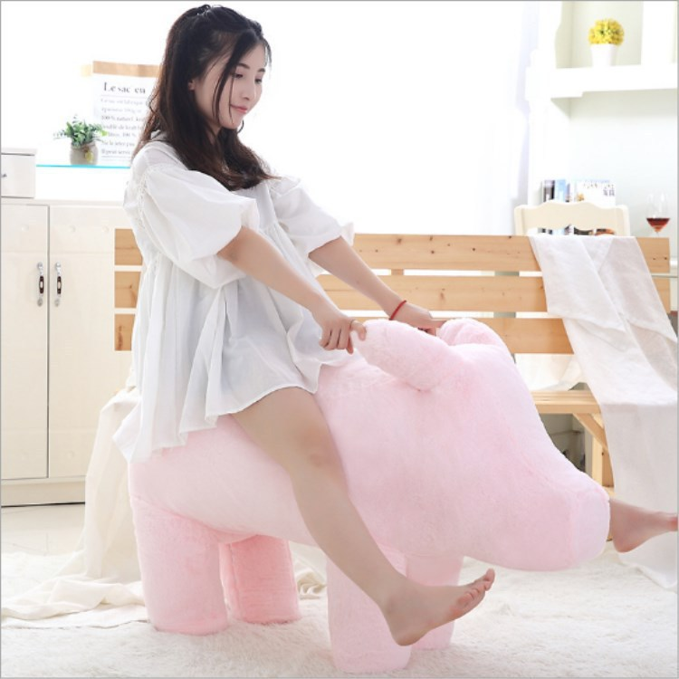 Longing for Life Celebrity Style Network Red Pig Sofa lu dan Piggy  Seat Stool Pink Pig Plush Doll