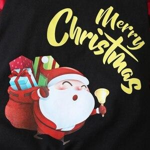 Рождественская зимняя одежда для маленьких мальчиков хлопковое боди в клетку с длинными рукавами и надписью Санта Клауса, одежда для маленьких девочек от 0 до 18 месяцев|Ромперы|   | АлиЭкспресс
