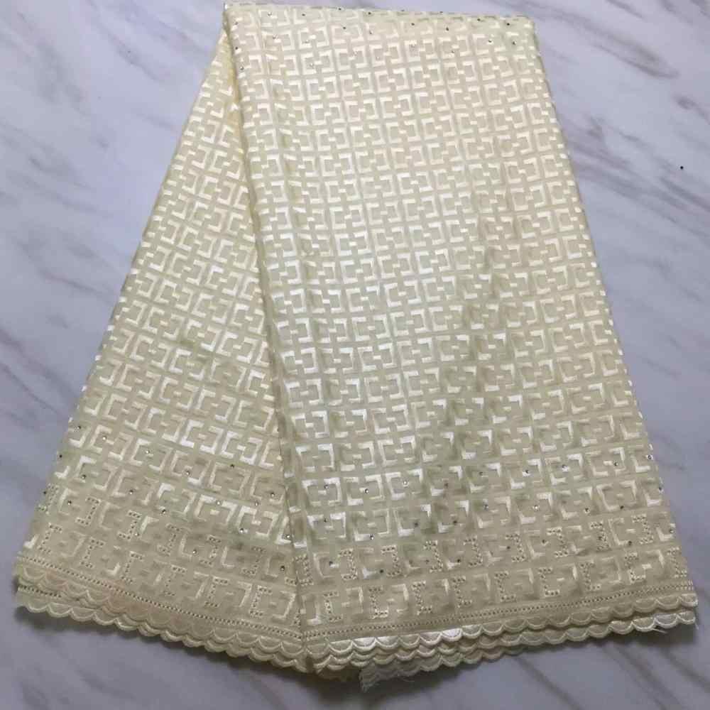 Новый дизайн Золотая нигерийская кружевная ткань высокого качества Швейцарский кружевной материал для Aso Ebi униформа ткань для женского платья FF16922