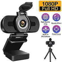 Webcam Full hd 1080P Live Video Webcam With Cover ABS Optical Lens USB Plug And Play web camera With Microphone