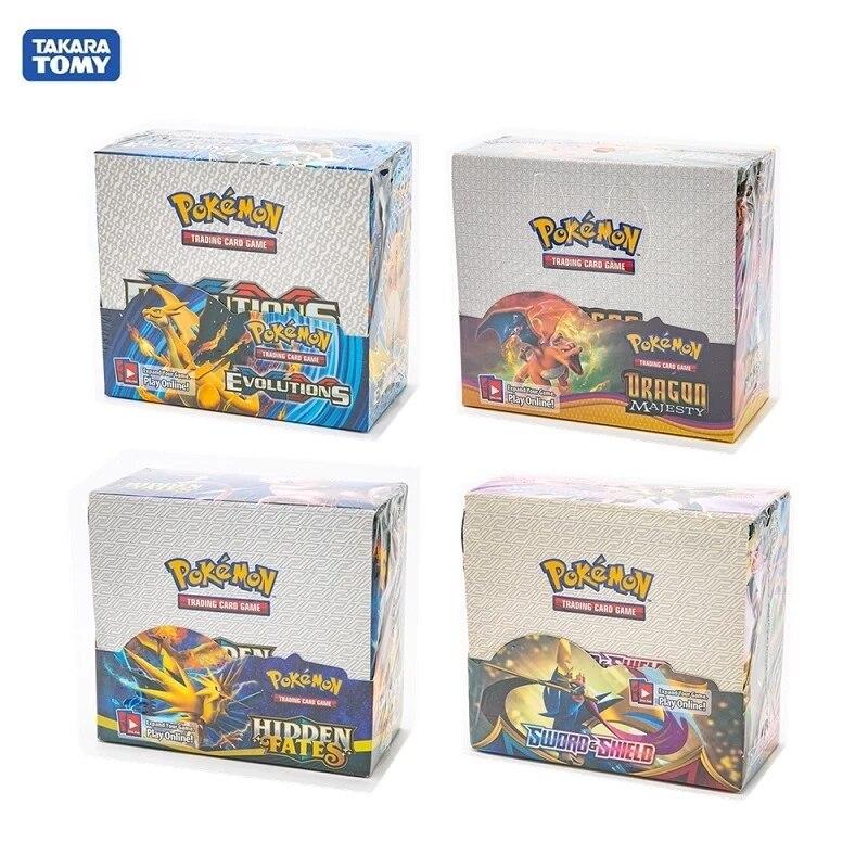 324Pcs Evolutions  Pokemon Cards Box TCG: Sun & Moon Evolutions Pokemon Booster Shinny Card Pokemon Game Toy Kids Birthday Gift