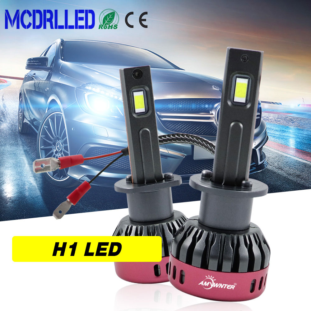Mcdrlled 2020 New Super Bright H1 <font><b>Led</b></font> <font><b>Bulbs</b></font> H8 H9 <font><b>H11</b></font> <font><b>Led</b></font> Car <font><b>Headlight</b></font> Auto <font><b>Bulbs</b></font> 3600lm 12v 30w 6500k Auto Lamp image
