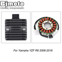 BJMOTO YZF R6 Motorcycle Voltage Rectifier Regulator Engine Stator Coil For Yamaha YZF R6 2006 2016