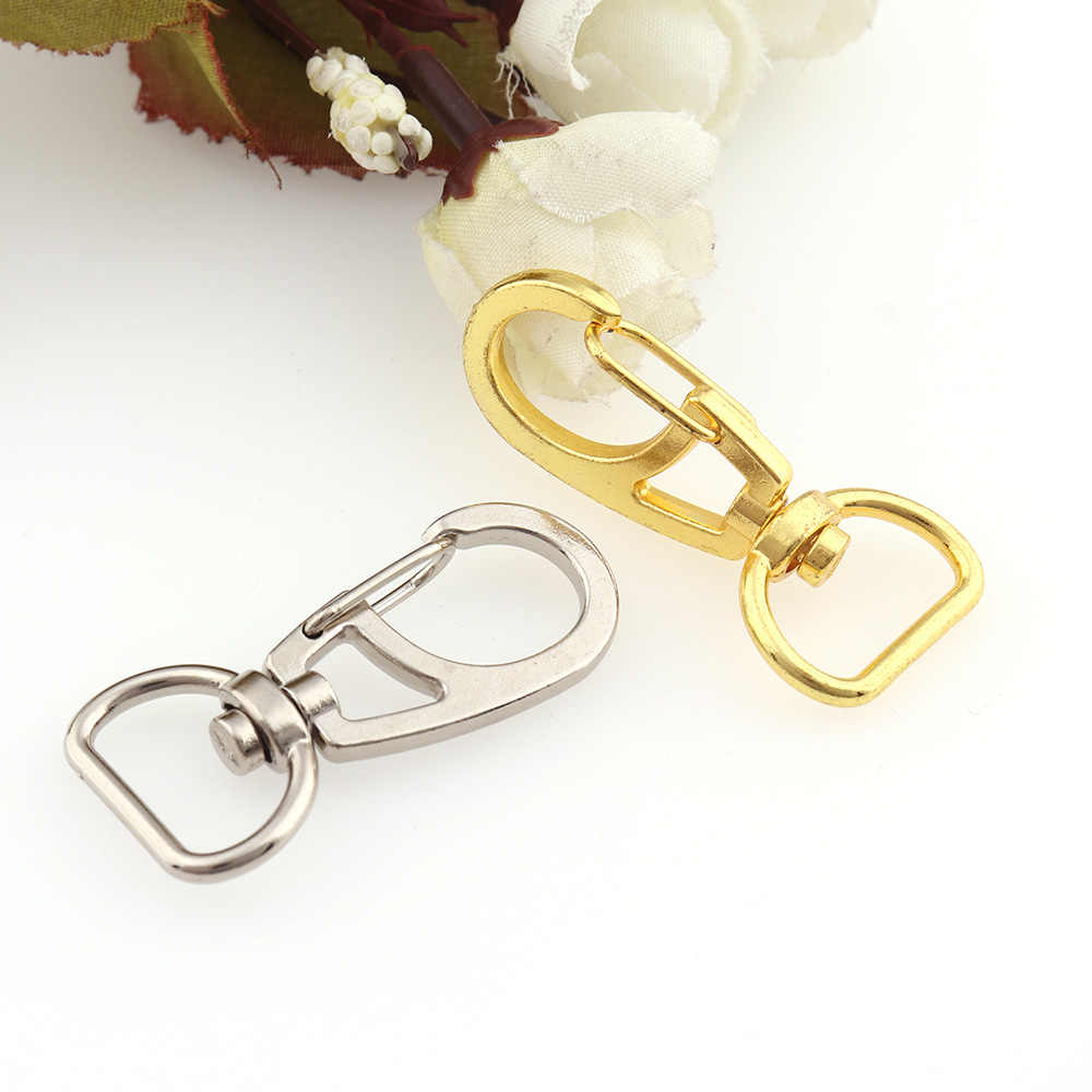 6Pcs Gold Swivel Trigger Clips Snap Hooks Key Ring Bags DIY Craft Findings