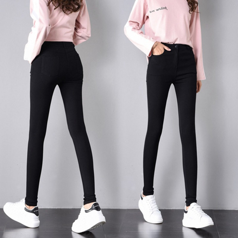 Photo Shoot Spring New Style Ultra-stretch Black And White With Pattern Leggings Women's Outer Wear Refuse To Wiredrawn Slimming