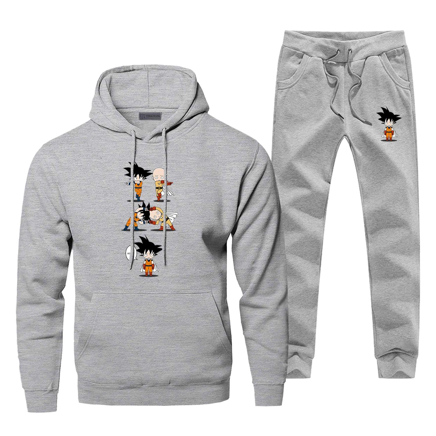 One Super Punch Man   Hoodie Pants Set Men Sweatshirt Male Hoodies Sweatshirts Mens Sets Two Piece Pant Pullover Hoody Coat