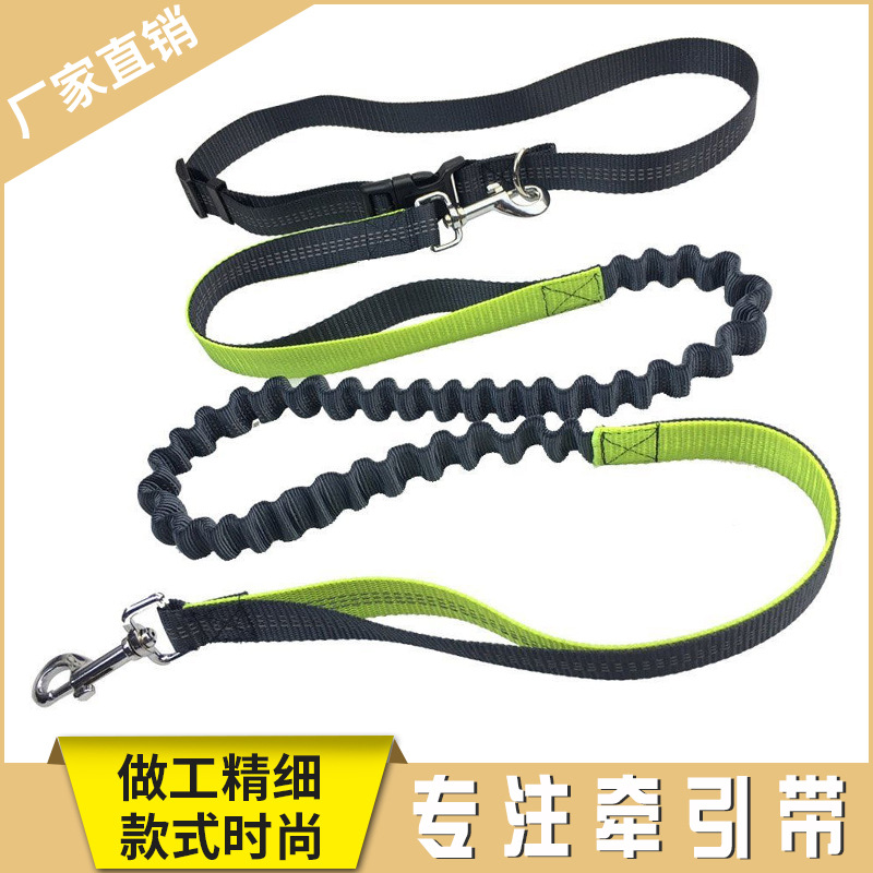 Hot Selling Multi-functional Running Hand Holding Rope Outdoor Sports Dog Training Lanyard Walk Double Elasticity Dog Leash