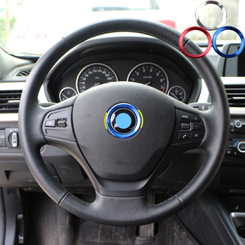 Zlord Steering Wheel Decoration Circle Cover Sticker for BMW X1 F48 E60 E36 E39 E46 E30 E60 E90 E92 F10 F30 F25 Accessories image