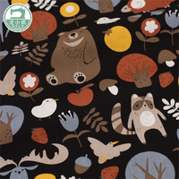 High quality printed cotton fabric DIY fabric forest animal pattern