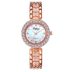 Image 3 - Часы Difini женские кварцевые, деловые водонепроницаемые повседневные модные, с бриллиантами, подарок на день рождения