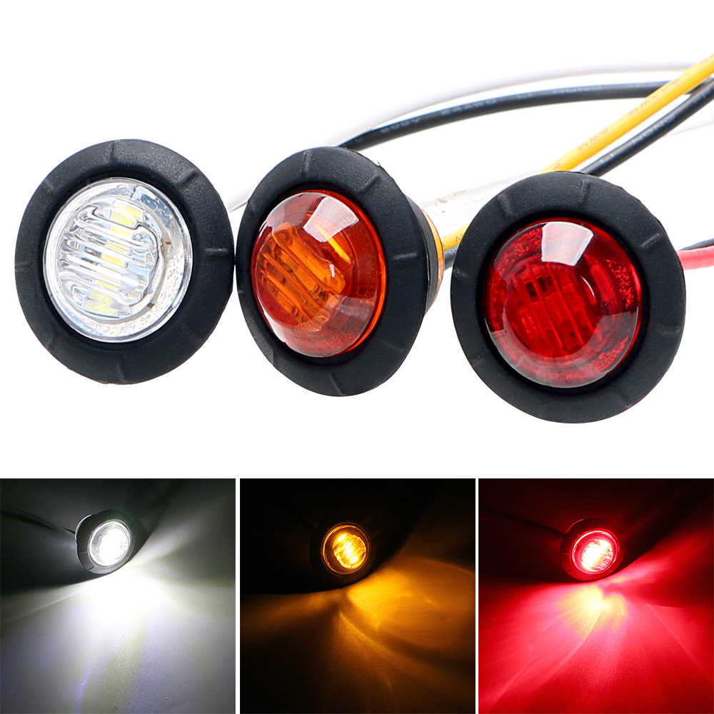 LEEPEE LED Side Marker Lights 2Pcs/set Signal Lamp Super Bright Car Tail Lights Car-styling