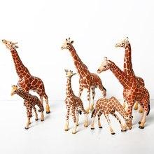Realistas Figurinhas Girafa com Girafa Filhote, 2-7