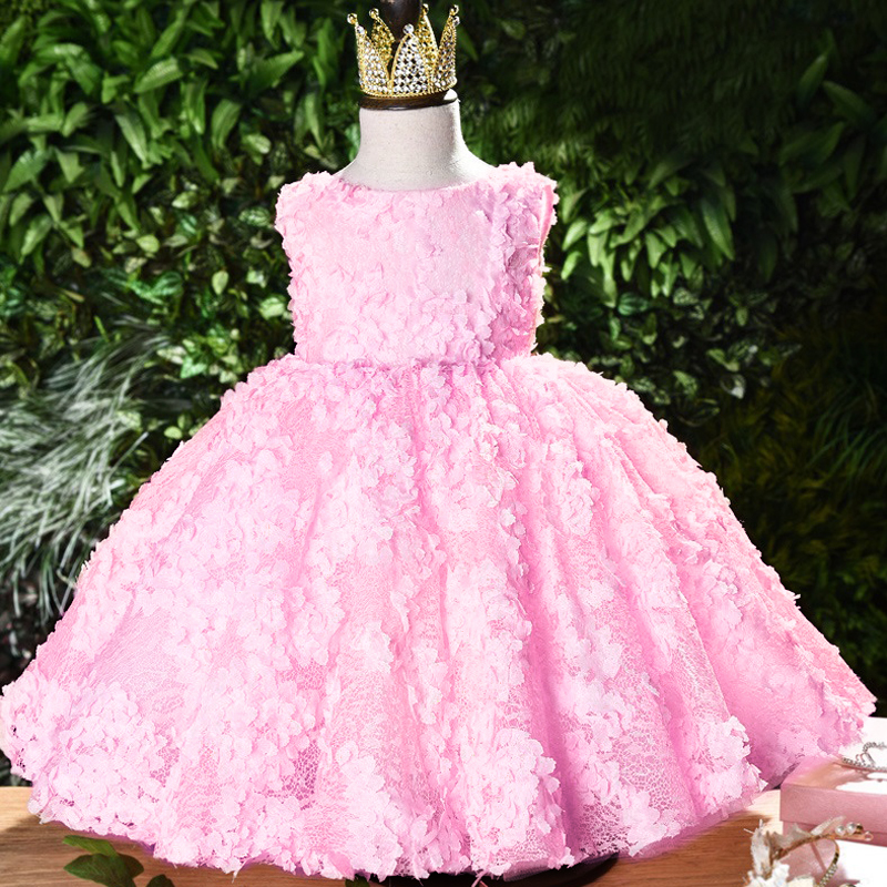 Lovely Baby Princess Birthday Party Dinner Party Evening Dress Girl Baby's Wedding Party Bridesmaid Eucharist Ballroom Dress