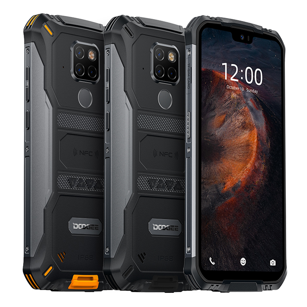 IP68 Waterproof DOOGEE S68 Pro Rugged Phone Helio P70 Octa Core 6GB 128GB Wireless Charge NFC 6300mAh 12V2A Charge 5.9 inch FHD+ 5