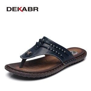 Image 5 - DEKABR COWหนังผู้ชายรองเท้าแตะชายหาดแฟชั่นFlip Flopsนุ่มอินเทรนด์Breathableง่ายต่อการจับคู่รองเท้าฤดูร้อนผู้ชาย