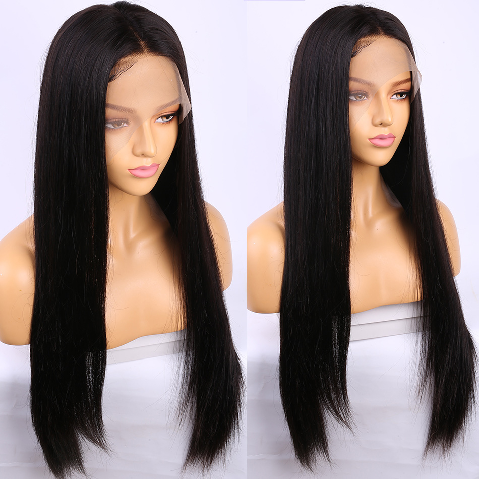 Alibele 13x4 Lace Front Human Hair Wig 150% Density Brazilian Remy Straight Human Hair Wig For Black Women Pre Plucked Lace Wig