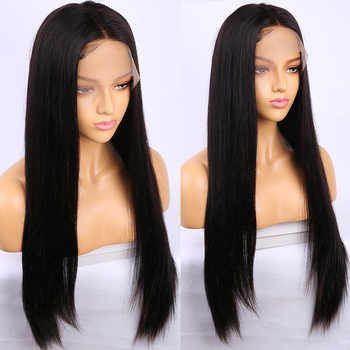 Alibele 13x4 Lace Front Human Hair Wig 150% Density Brazilian Remy Straight Human Hair Wig For Black Women Pre Plucked Lace Wig - SALE ITEM - Category 🛒 Hair Extensions & Wigs