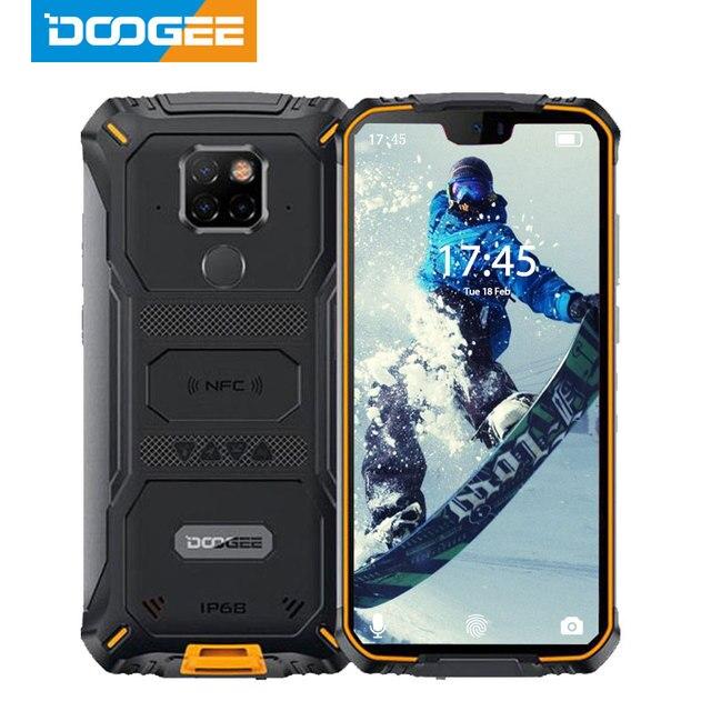 IP68 مقاوم للماء DOOGEE S68 Pro جوّال المهامّ الوعرة لاسلكيّ شحن NFC 6300mAh 12V2A شحن 5.9 بوصة FHD + Helio P70 Octa Core 6GB 128GB