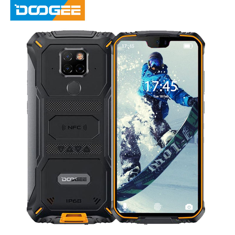 IP68 Waterproof DOOGEE S68 Pro Rugged Phone Wireless Charge NFC 6300mAh 12V2A Charge 5.9 inch FHD+ Helio P70 Octa Core 6GB 128GB image