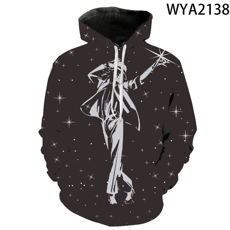 2020 New Hoodies Men Women Children Michael Jackson Sweatshirts 3D Printed Pullover Streetwear Boy Girl Fashion Casual Pullover