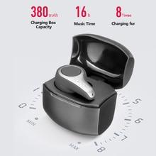 CLAITE S9 bezprzewodowa bluetooth 5.0 słuchawka na jedno ucho HiFi Mini przenośne słuchawki bezobsługowy zestaw słuchawkowy słuchawki douszne z etui z funkcją ładowania