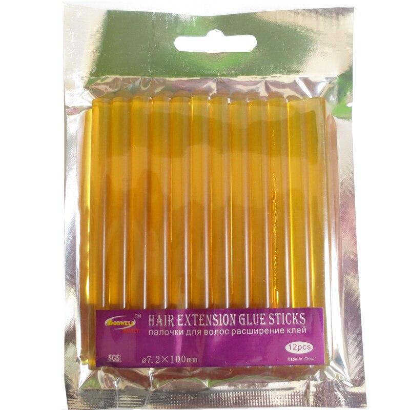 24 PCS/Lot Yellow Hair Extension Glue Sticks Hot Melt Glue Stick For Hair Extension