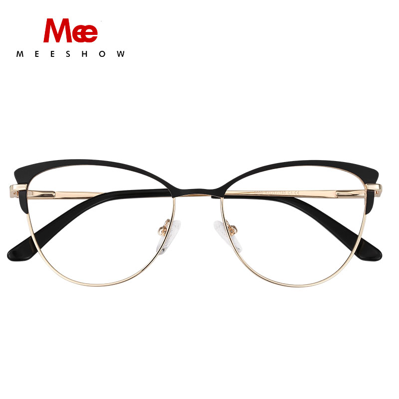 MEESHOW Glasses Frame Men Women Oval Prescription Eyeglasses Female Myopia Optical Frames Clear Spectacles Eyewear M6916