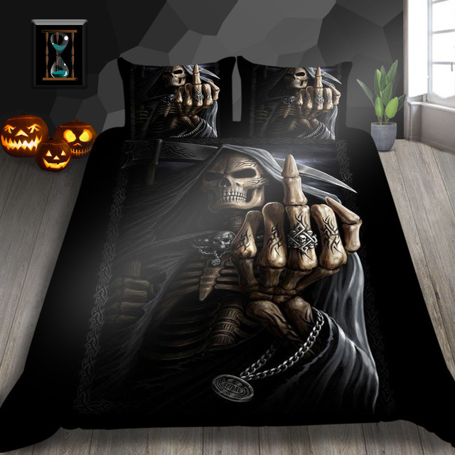 3D SERIES SKULL BEDDING SET