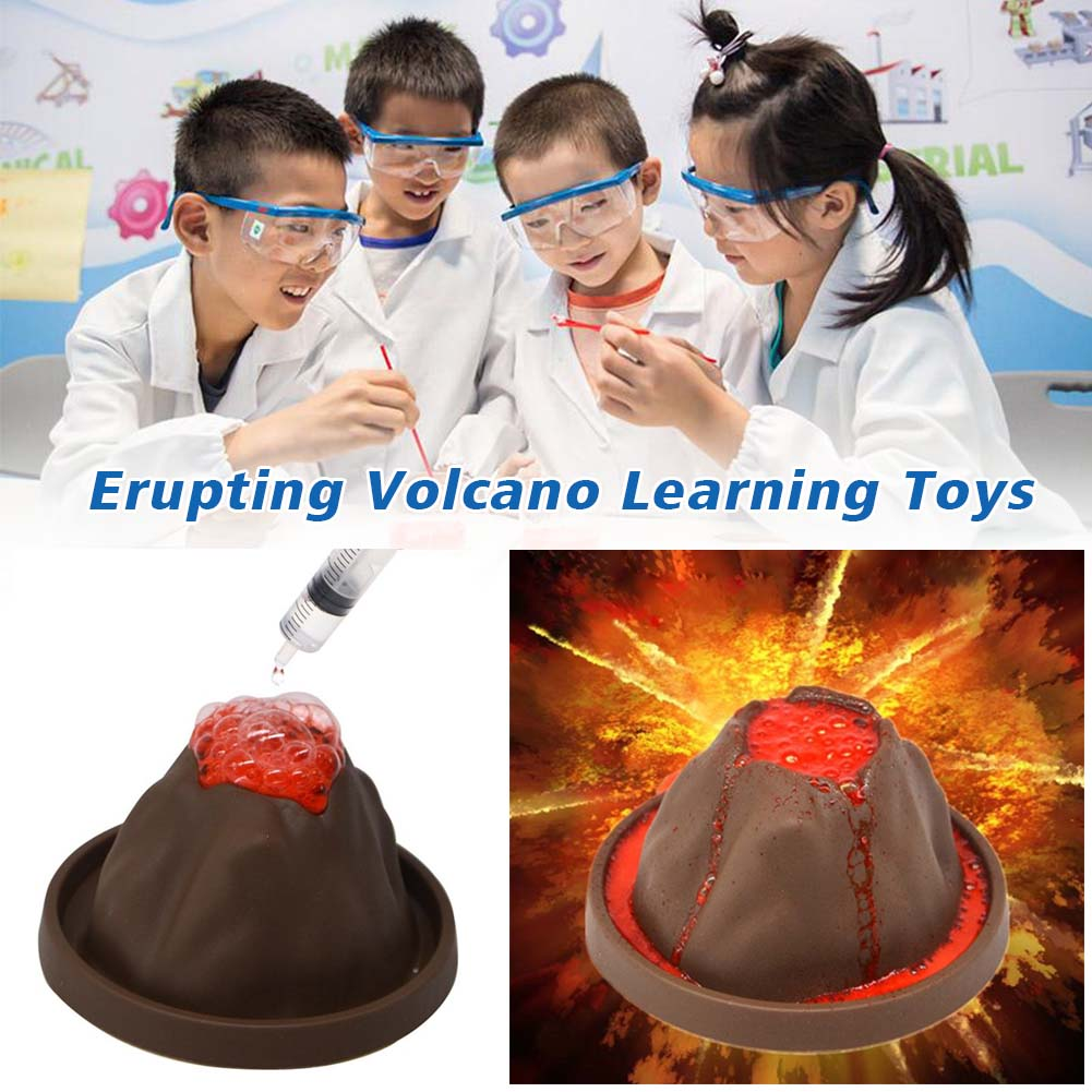 Geographic Erupting Volcano DIY Educational Discovery Learning Toys Kids Experiment Science Kit Gift Exploring Funny Chemical