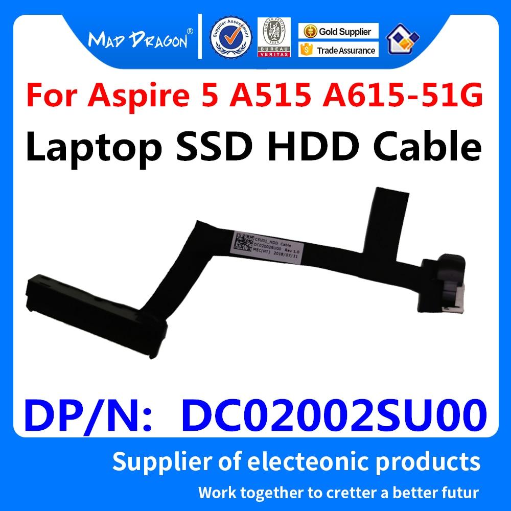 New Original SATA SSD HDD Cable Hard Drive Connector For Acer Aspire 5 A515 A515-51G A615 A615-51G-536X C5V01 N17C4 DC02002SU00