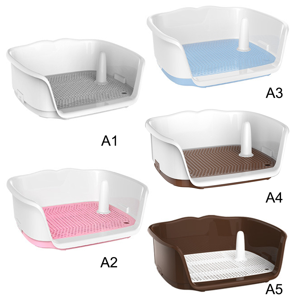 Portable Pet Dog Toilet Puppy Potty Urinal Lavatory Basin Pee Training Tray  For Small Puppy Pet Dog Supplies