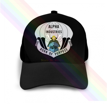 Alpha Industries-gorra de béisbol con Logo de Born Of Purpose, color negro...