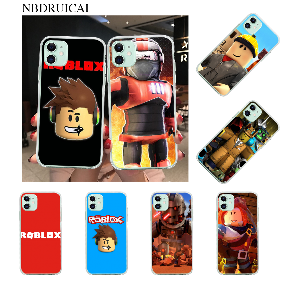 Nbdruicai Popular Game Roblox Logo Cover Black Soft Shell Phone