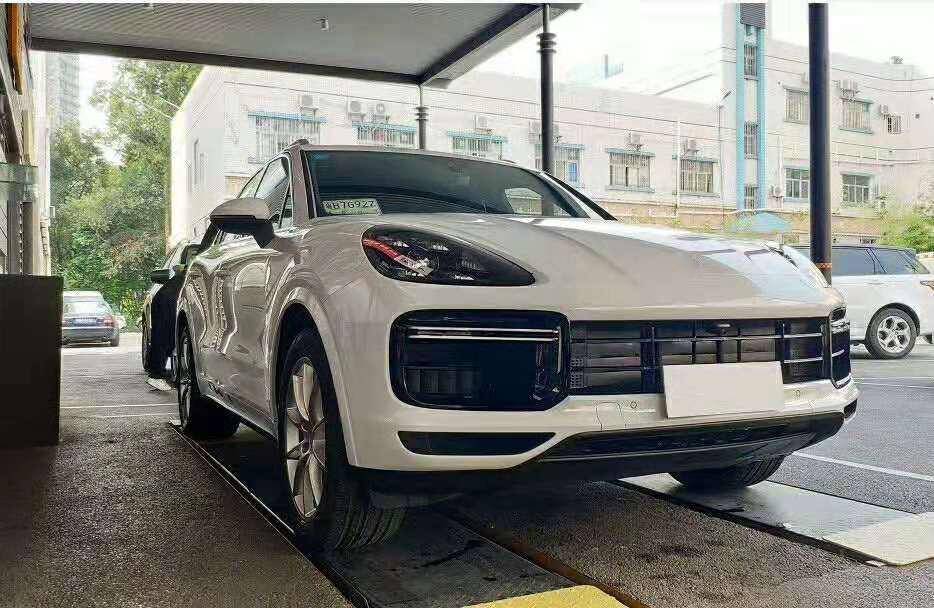 Автомобильный набор для всего тела для Porsche Cayenne Facelift бампер 2018-2020 автомобильный передний бампер губы боковые юбки задний диффузор спойлер PP