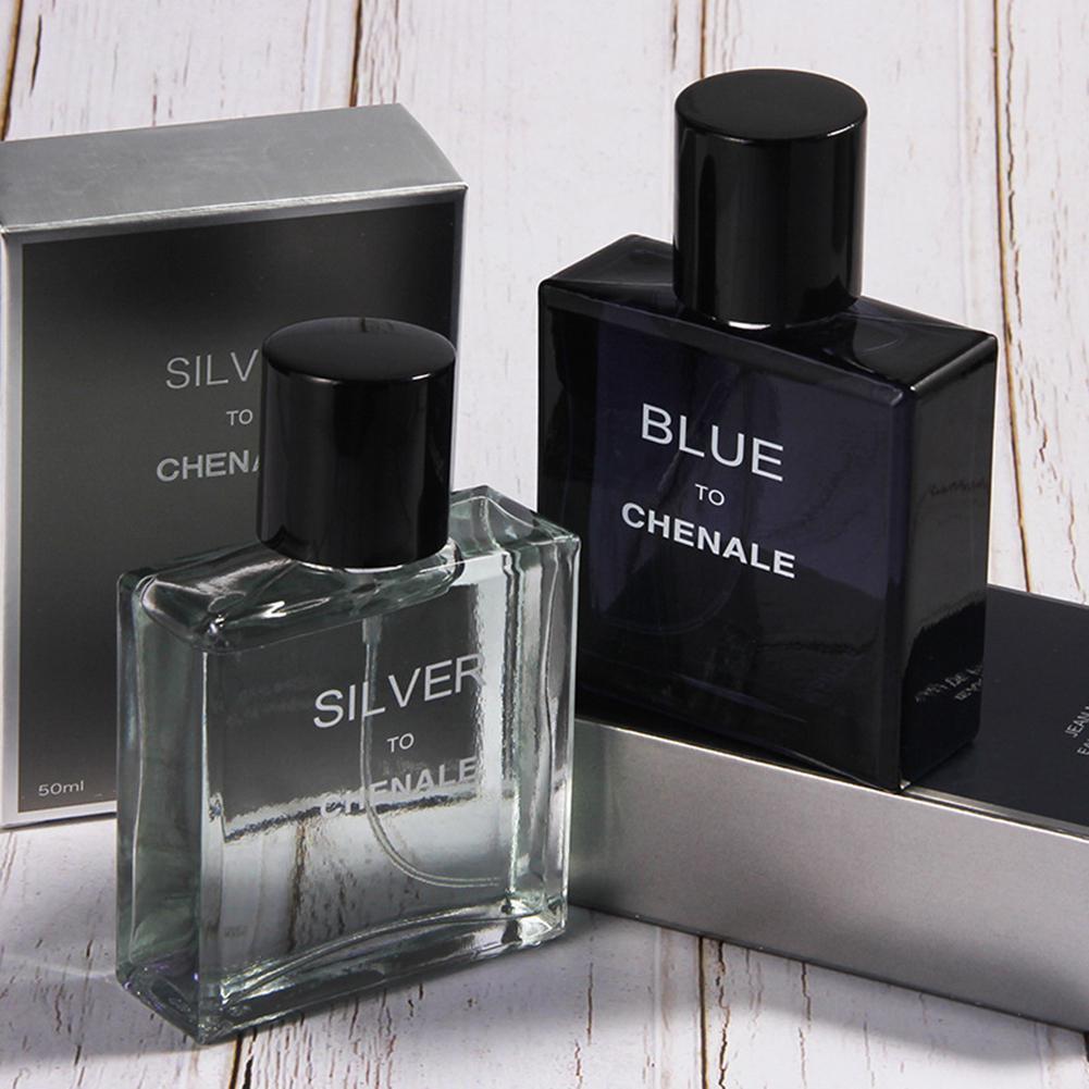 HobbyLane 50ml Men Perfume Atomizer Bottle Glass Romantic Elegant Ocean Wood Long-lasting Fresh Fragrance Spray Parfum 1pcs