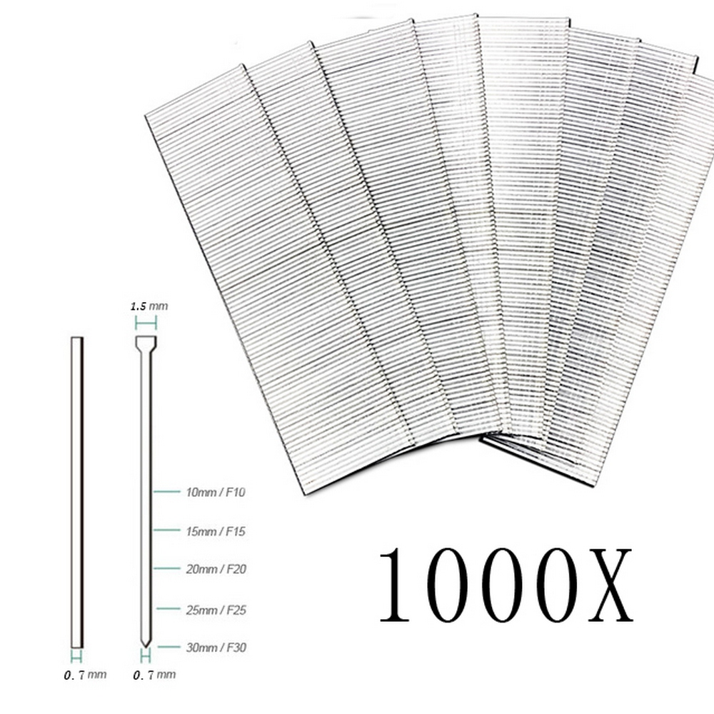1000PCS Nailer Penumatic Strip Nails F10F15 F20 F25 F30 Straight Steel DIY Woodworking Nail Gun Home Decoration Wardrobe Door