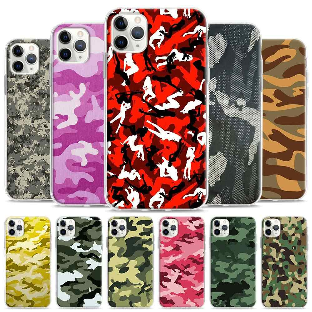 Camouflage Muster Camo military Silikon Fall Coque für iPhone 11 11Pro XS Max XR X 7 8 6 6S plus 5 5S SE 7 + 8 + 11 + Zurück Shell