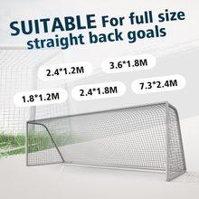 Rede de futebol ao ar livre para o objetivo de futebol esportes treinamento redes malha para portões formação pós redes tamanho completo