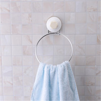 Stainless Steel Towel Bar Rack Round Bathroom Kitchen Wall mounted Towel Polished Rack Holder Suction Cup Bathroom Organizer|Towel Bars| |  -