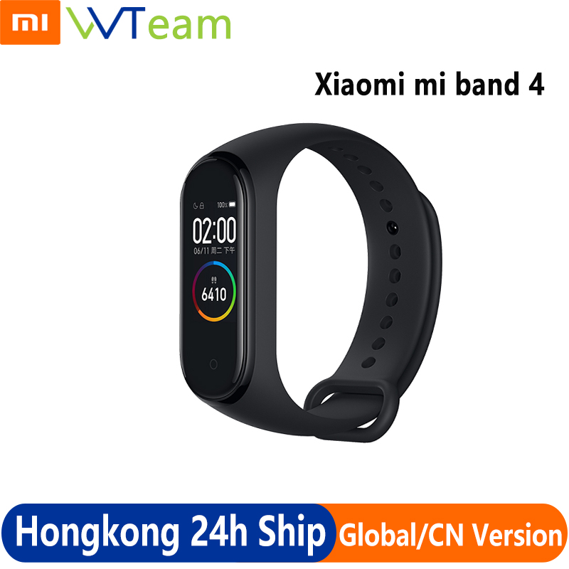 Original Xiaomi Band 4 Smart Wristband Fitness Bracelet OLED Display MiBand 4 Heart Rate Time Big Touch Screen Message Smartband