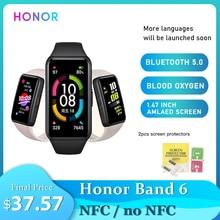 Смарт-часы Honor Band 6, фитнес-трекер SpO2, датчик уровня кислорода в крови, водонепроницаемый смарт-Браслет С Пульсометром
