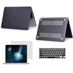 Matowy matowy Laptop sztywne etui ochraniacz na drążek skrzyni biegów dla Apple Macbook Air Pro z Retina touch bar 11 12 13 15 16 cali A2141