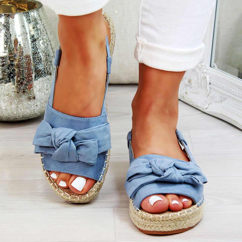 סנדלי נשים נעלי האופנה גלדיאטור קיץ עבה קשת תחתון דגים פה נעלי רומא סקסי עבה תחתון אבזם Sandalias